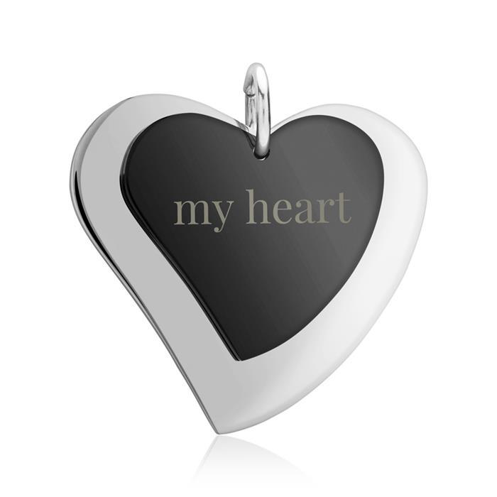 Kette mit gravierbaren Herz-Anhängern