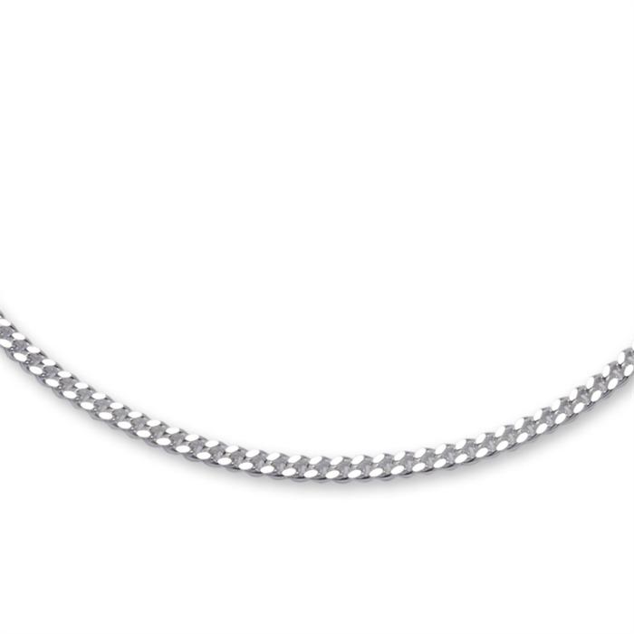 925 Silberarmband: Panzerarmband Silber 2mm