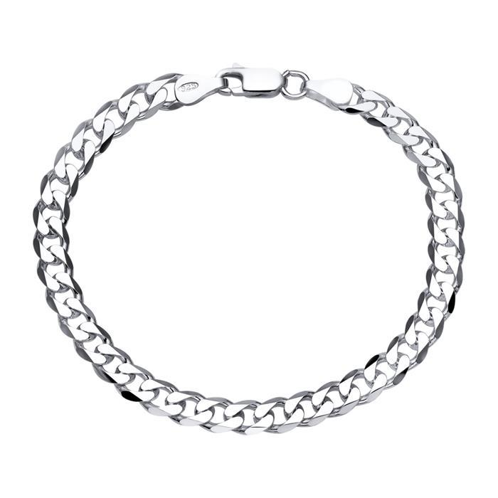 925 Silberarmband: Panzerarmband Silber 6mm