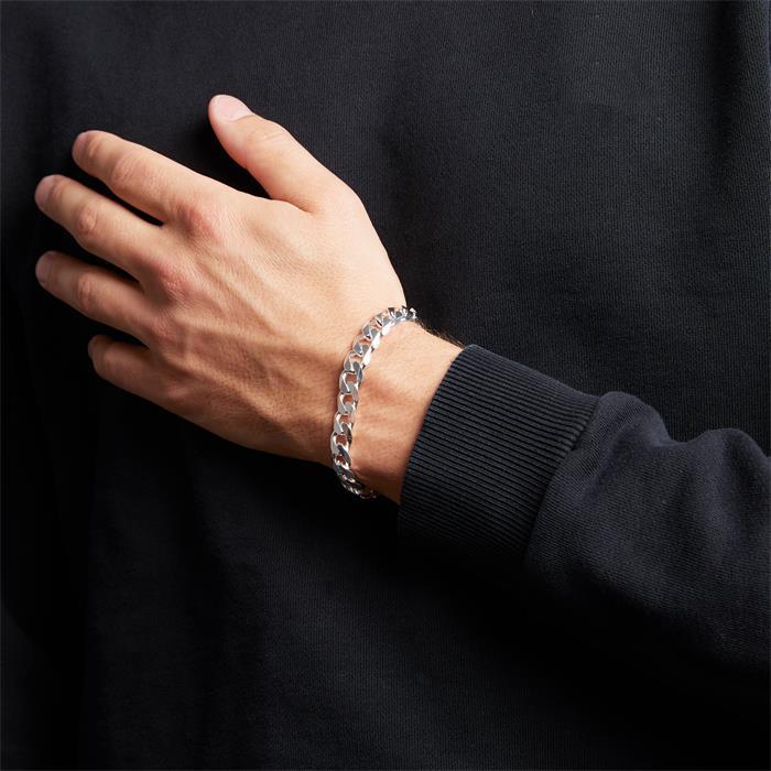 Sterling Silver Bracelet: Curb Bracelet Silver 9,5mm