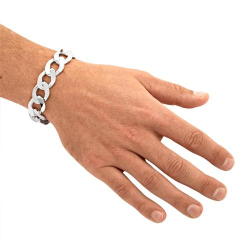 925 Silberarmband: Panzerarmband Silber 17mm