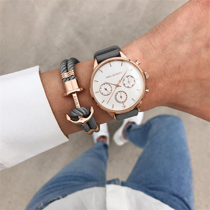 Ladies Watch Everpulse With Grey Leather Strap