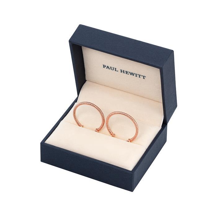Rope Hoop Ohrringe aus rosévergoldetem Edelstahl