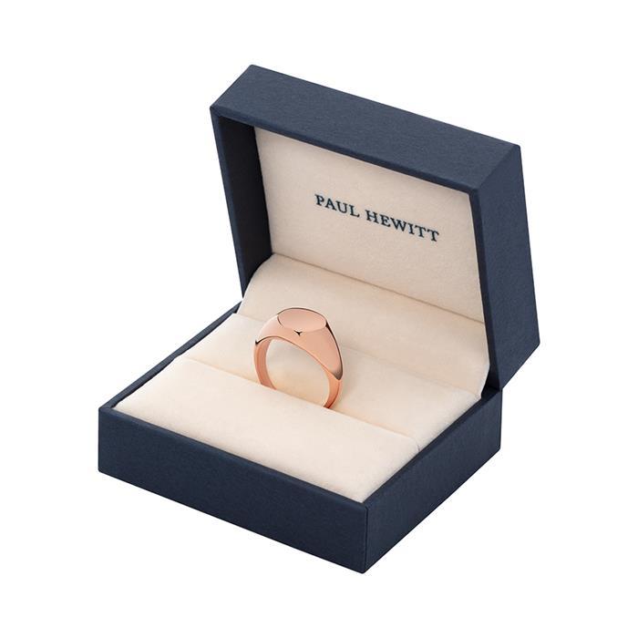 Gravierbarer Damen Ring Signet aus Edelstahl rosé