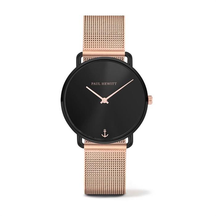 Uhr für Damen rosé schwarz