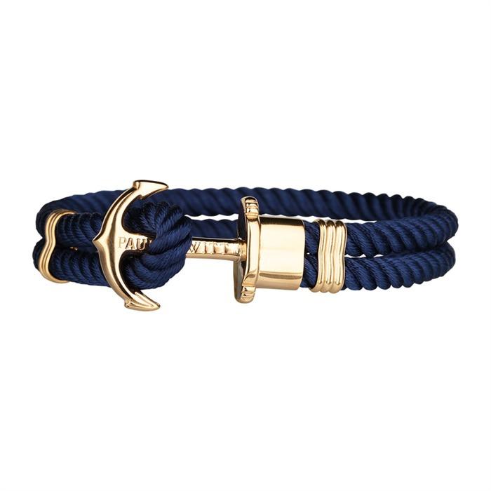 Nylon Armband blau gold
