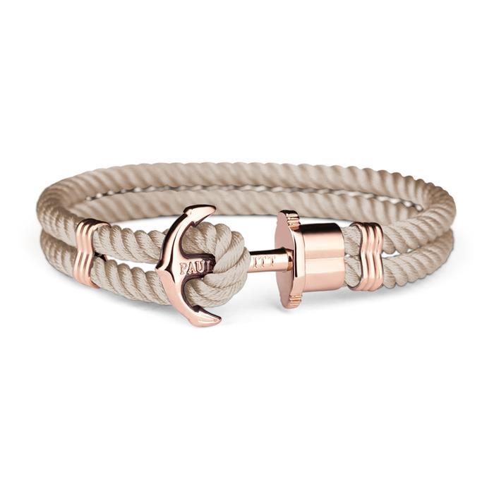 Damen Armband Phrep aus Textil beige rosé