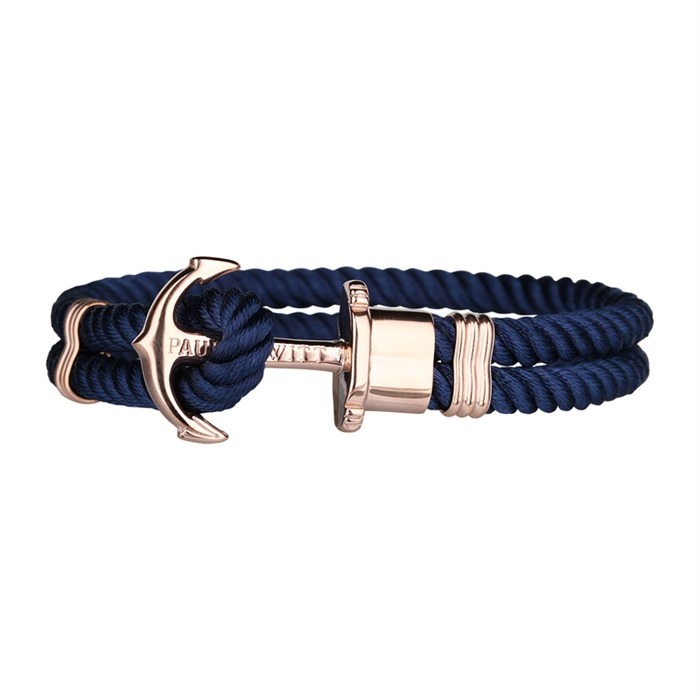 Nylon Armband blau roségold