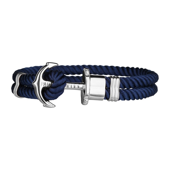 Nylon Armband blau silber