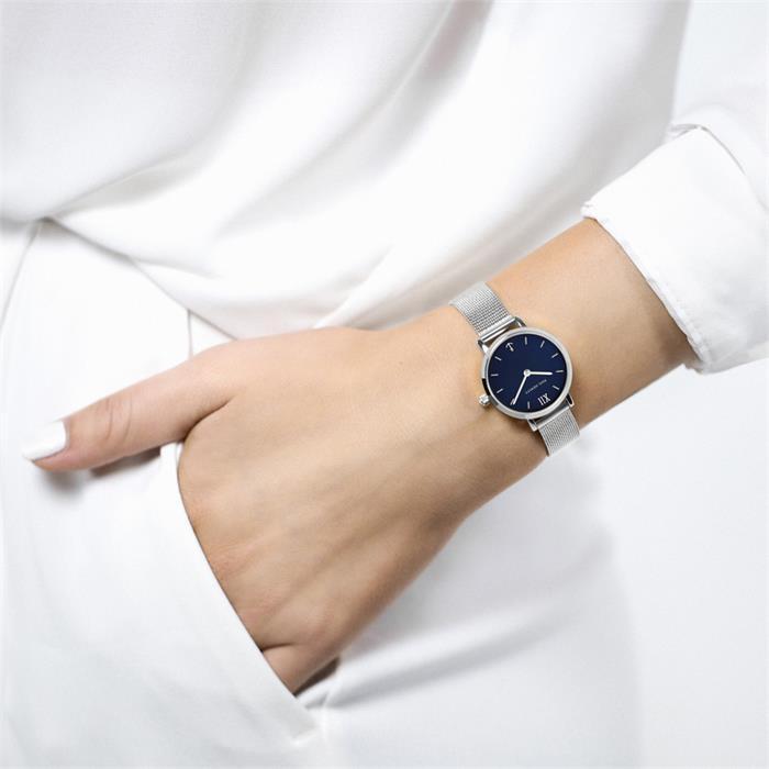 Sailor Line Uhr Modest Blue Lagoon für Damen Edelstahl