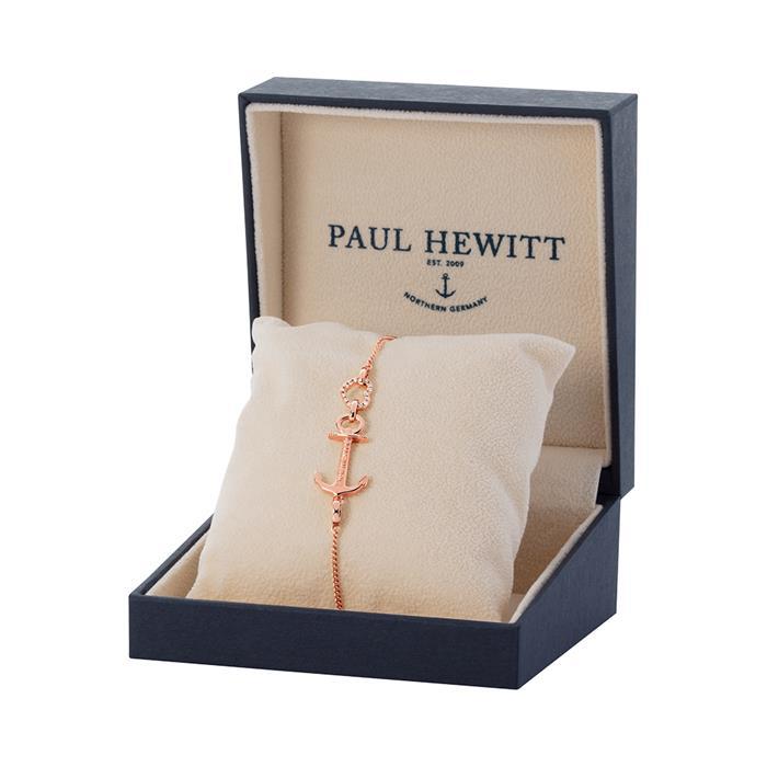 Anchor Heart Armband für Damen aus 925er Silber, rosé