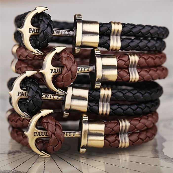 Phrep-Armband Anker schwarz