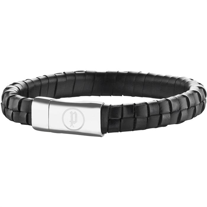 Armband schwarzem Leder
