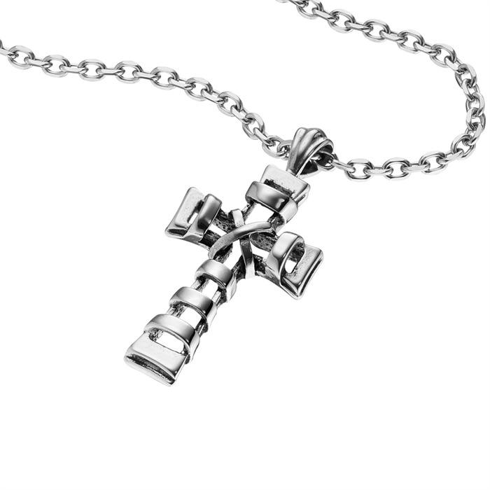 Edelstahl Kette Kreuz