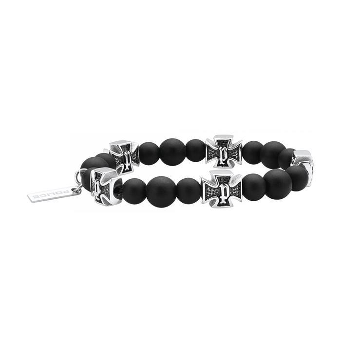 Armband Crossball für Herren aus Edelstahl und Achat