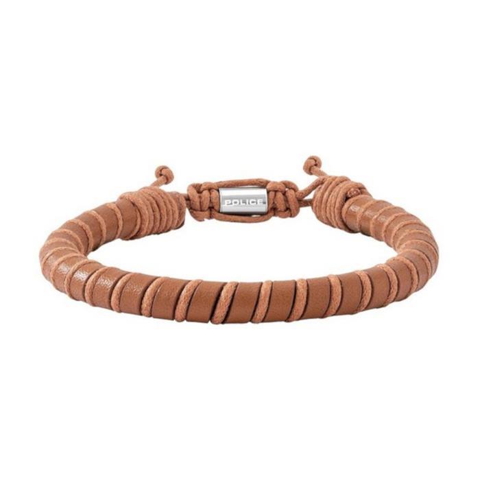 Armband Siem für Herren aus braunem Leder