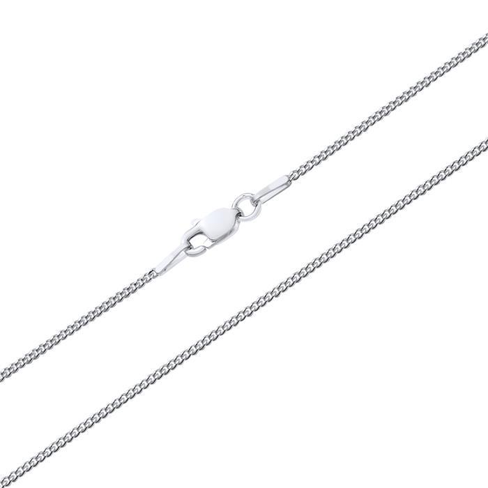 925 Silberkette: Panzerkette Silber 1mm