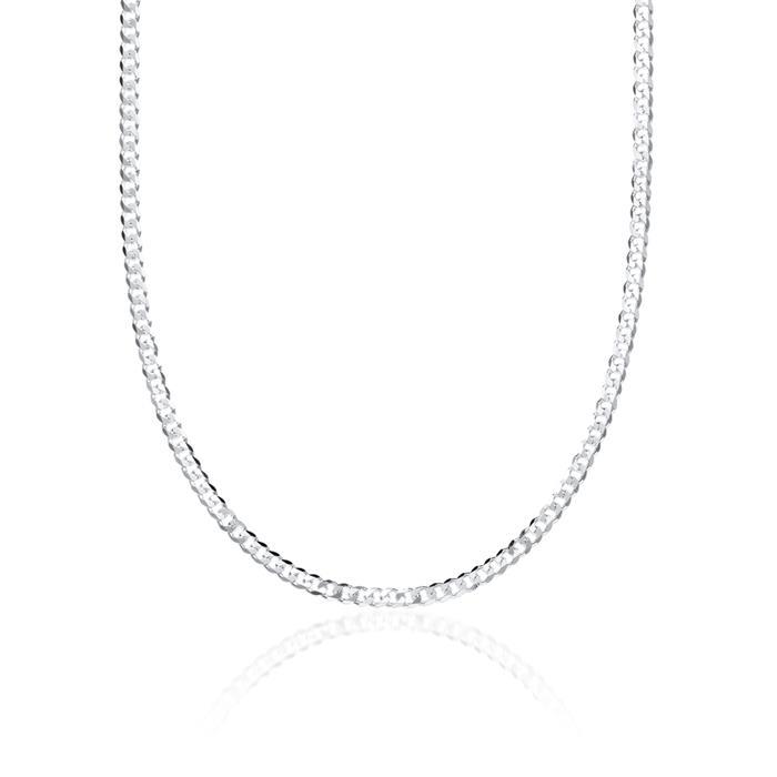 925 Silberkette: Panzerkette Silber 2mm