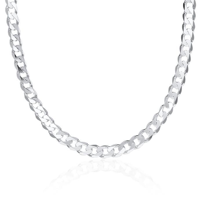 925 Silberkette: Panzerkette Silber 7mm
