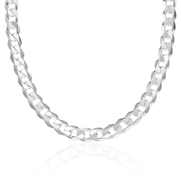 925 Silberkette: Panzerkette Silber 8mm
