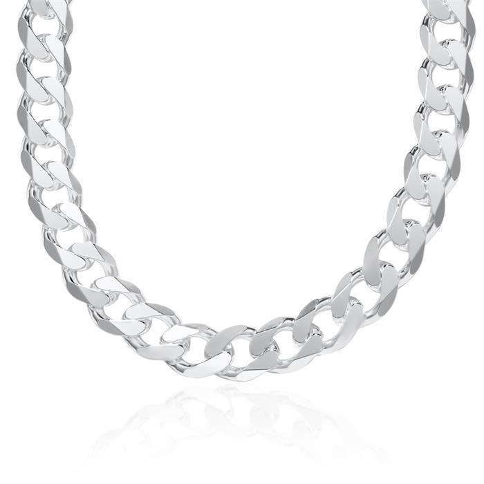 925 Silberkette: Panzerkette Silber 12mm