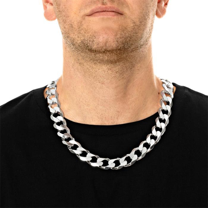925 Silberkette: Panzerkette Silber 19mm