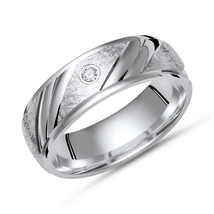 925 Eheringe: Silbertrauringe Gravur Zirkonia