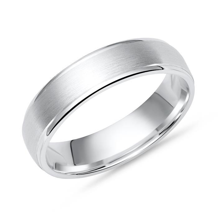 Schlichter Ring 925 Silber polierte Kanten 5mm