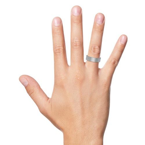 Silberring 925er Silber matt Glanzrillen 6,5 mm