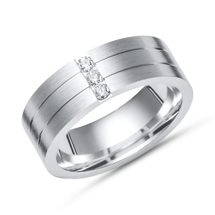 Ring 925er Silber mit Zirkonia 6,5 mm