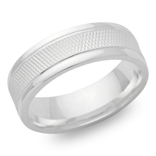 Matter Silber Ring 925er Silber in 7 mm