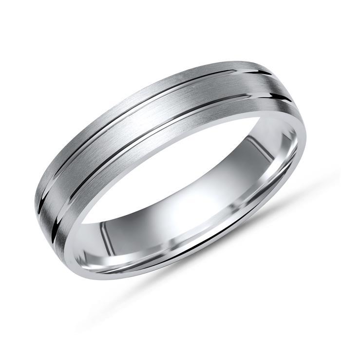 Silber Ring 925er Silber Glanzrillen 5 mm