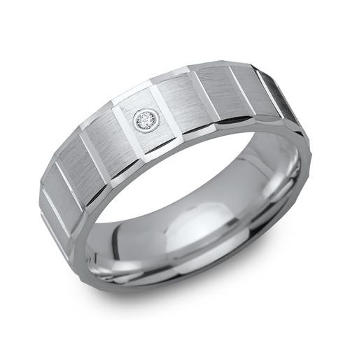 Moderner 925er Silber Ring Zirkonia 6,5 mm