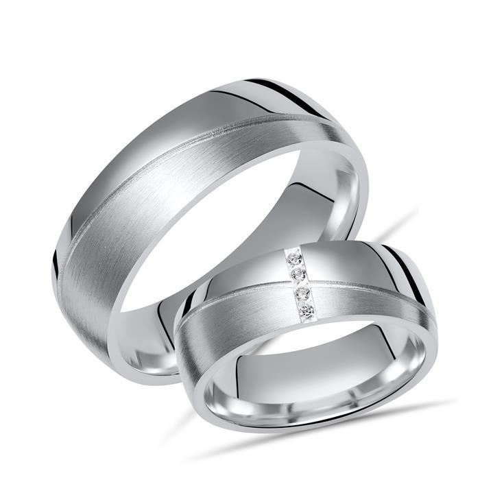Eheringe Silber Trauringe 925 Gravur Zirkonia