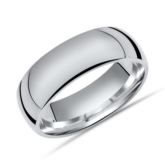 Hochglanzpolierter 925 Silberring 7mm