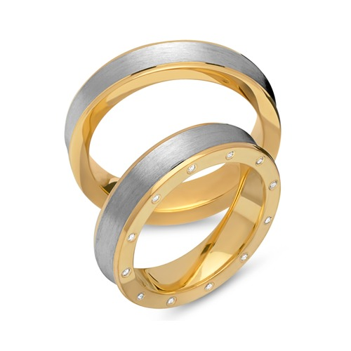 Eheringe 925er Silber vergoldet Zirkonia