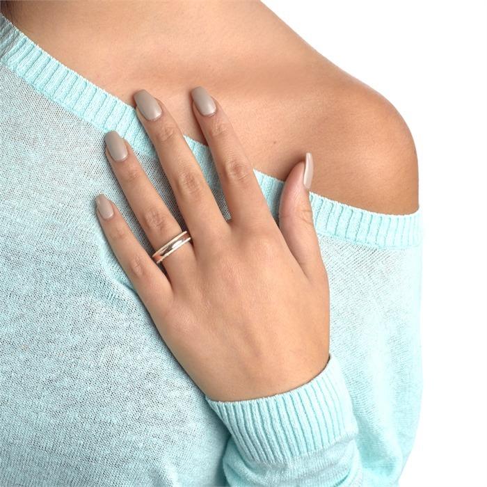 Hochwertiger Silberring mit Zirkoniabesatz