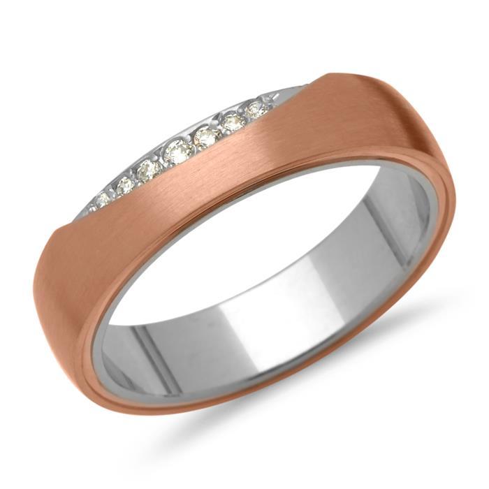 925 Silber Vivo Eheringe rosévergoldet Zirkonia