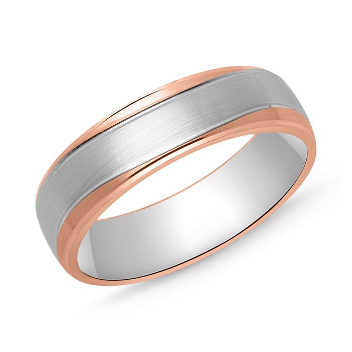 Ring für Herren 925er Silber in Bicolor