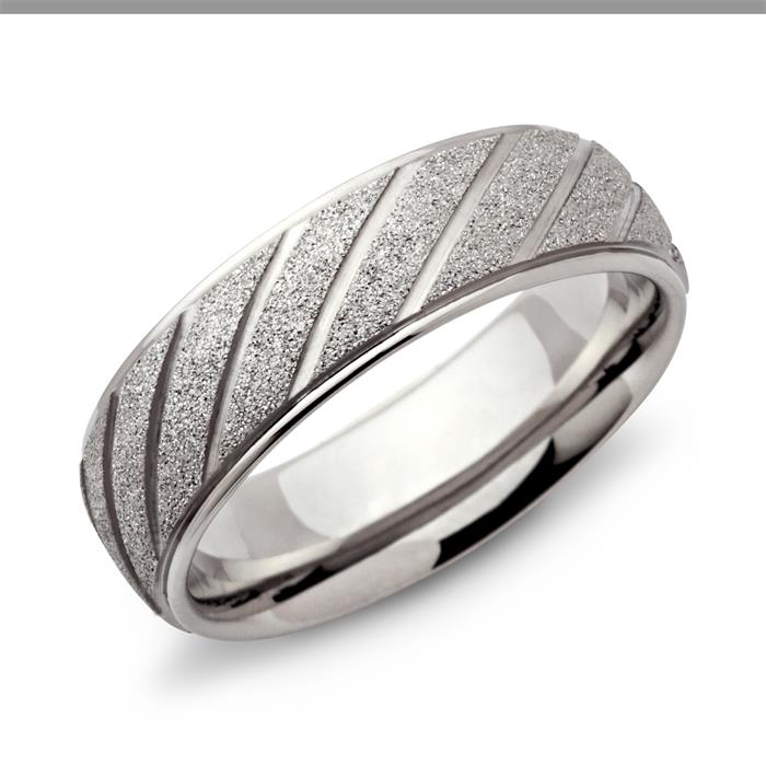 Ring Edelstahl diamantiert 7mm
