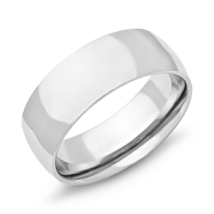 Ring Edelstahl poliert 8mm Gravur möglich