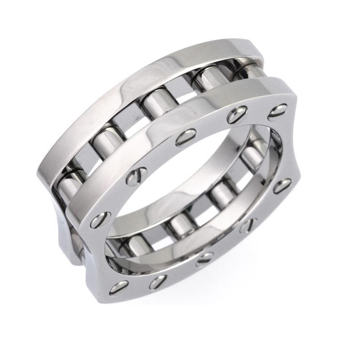 Polierter Ring Edelstahl in modernem Design 7,5mm