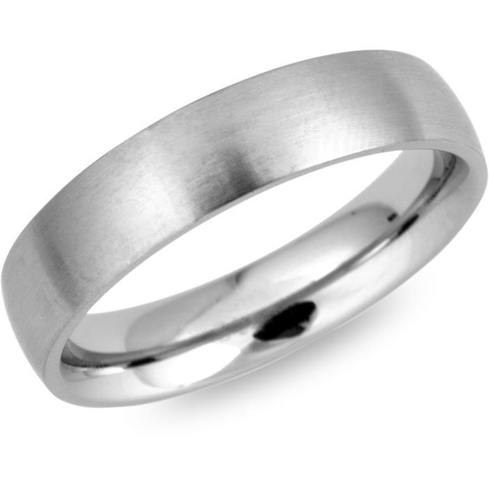 Ring Edelstahl matt rund 5mm Gravur möglich