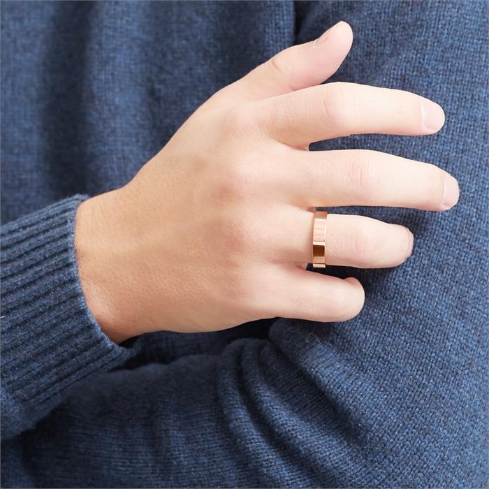 Gelbvergoldeter Ring Edelstahl 5mm breit