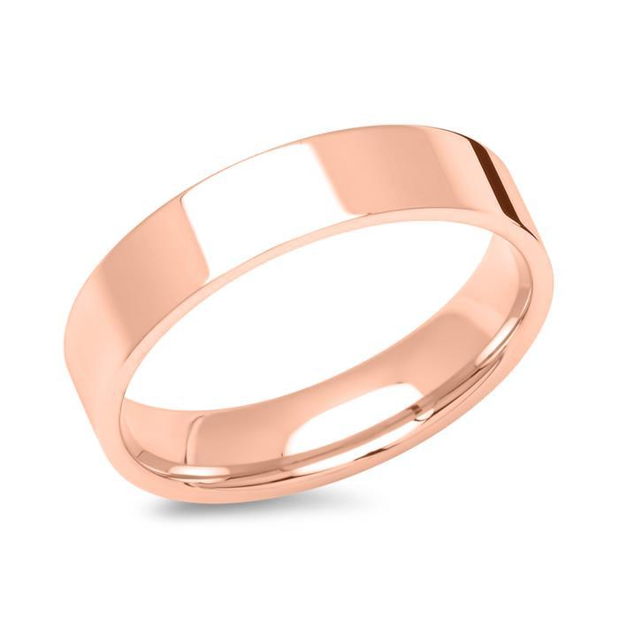 Rosévergoldete Partnerringe aus Edelstahl