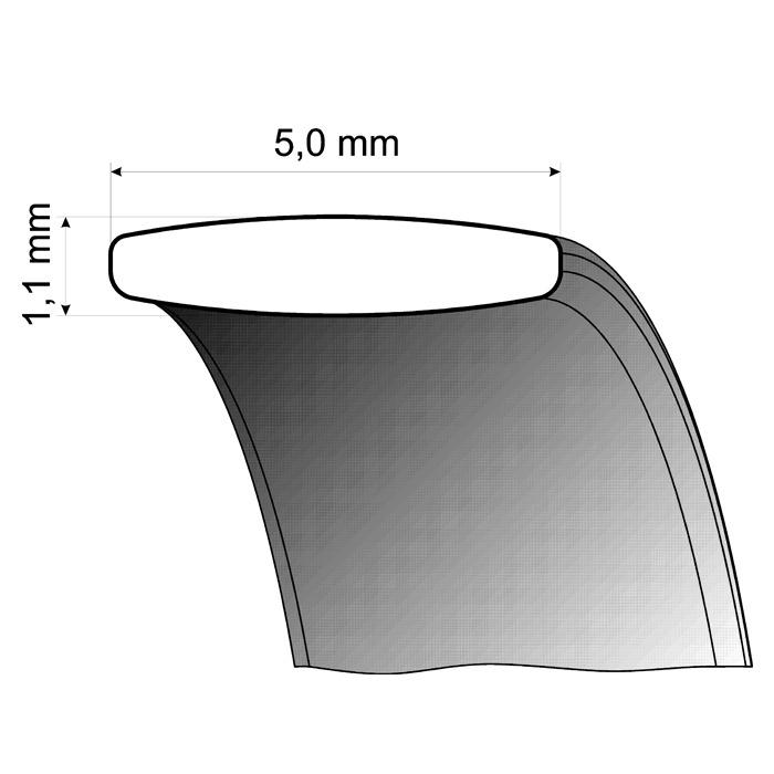 Trauringe Weißgold 5mm