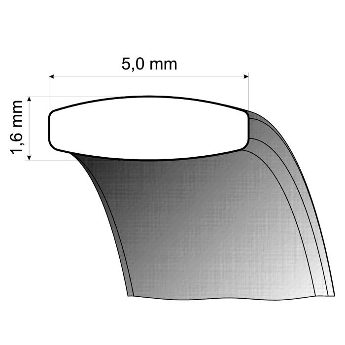 Trauringe Weiß- und Gelbgold 5mm