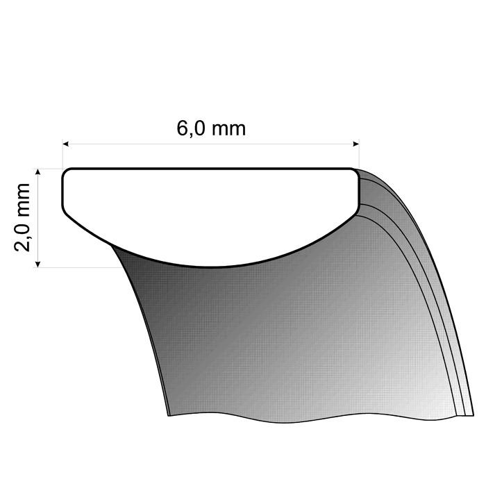 Trauringe Weiß- und Gelbgold 6mm
