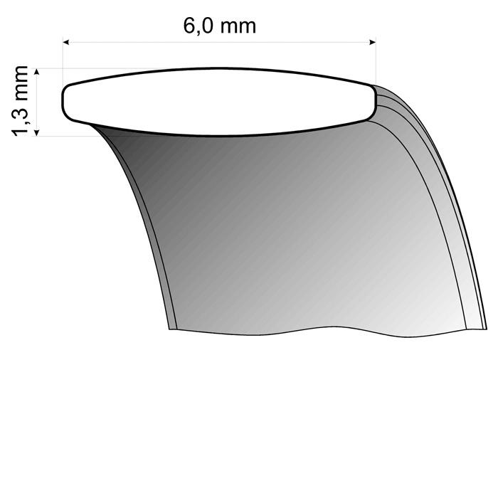 Trauringe Gelbgold / Weißgold 6mm