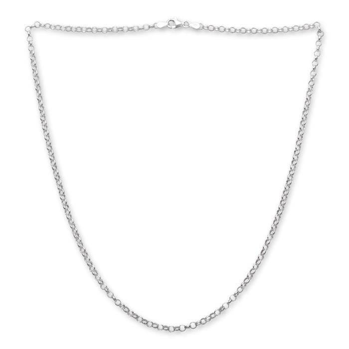 925 Silberkette: Rolokette Silber 4,0mm